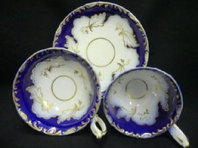"MINTON ""Q"" shape style  tea  & coffee trio"